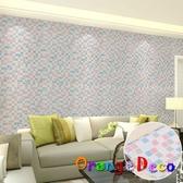 自黏壁紙【橘果設計】10米長 壁紙 馬賽克風格 DIY組合壁貼 牆貼 壁紙 壁貼 室內設計 裝潢 壁貼