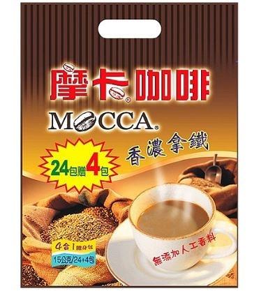摩卡咖啡香濃拿鐵風味*1包(15gX24+4入)【合迷雅好物商城】