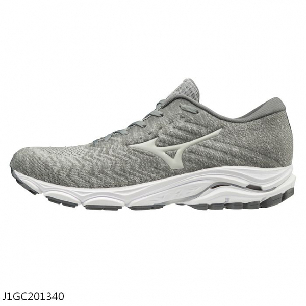 MIZUNO WAVE INSPIRE 16 KNIT 男鞋 慢跑 路跑 編織 避震 耐磨 深灰【運動世界】J1GC201340