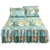 加厚夾棉床裙式1.8米床罩單件床套款防滑床單防塵罩1.5床上三件套 雙十二購物節