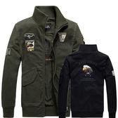 ※現貨 空軍一號老鷹刺繡純棉夾克/外套 2色 M-4XL碼【CW434210】