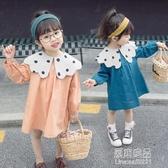新款春秋兒童女水手波點洋裝【快出】