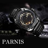 【完全計時】OUTLET手錶館│PARNIS 經典自動上鍊機械錶 PA3120日本機芯 藍寶石玻璃