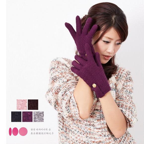 【MIT台灣製】台灣製 玫瑰+羽毛紗內裡 針織手套