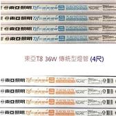 【南紡購物中心】【25入組】東亞T8  36W(4尺)傳統燈管 (FL40/36D/L-EX/T8)