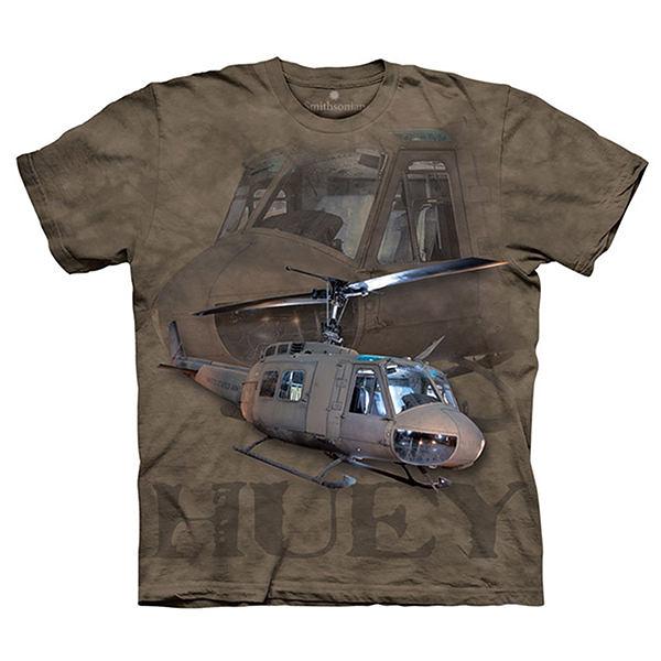 【摩達客】(預購)(大尺碼3XL)美國進口The Mountain Smithsonian系列 Huey直昇機 純棉環保短袖T恤
