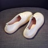平底鞋 孕婦鞋女2020新款休閒淺口單鞋豆豆牛筋軟底胖腳寬肥護士小白鞋 薇薇