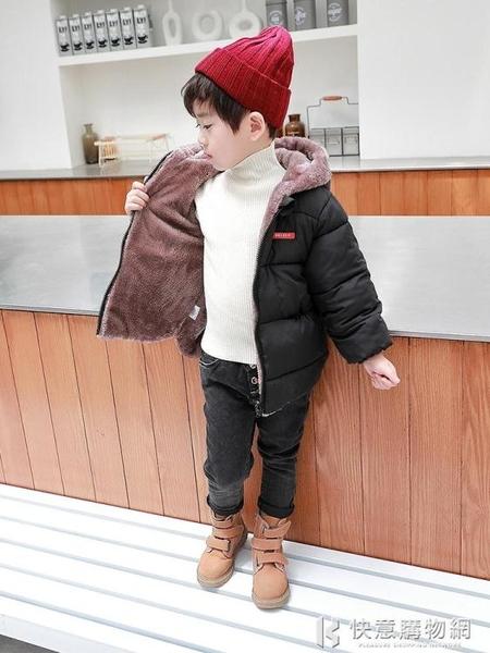 兒童棉服系列 兒童羽絨棉衣秋冬外套男童加絨棉服寶寶雙面穿中小童女童加厚童裝 快意購物網