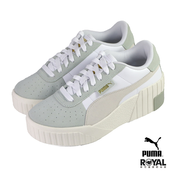 Puma Cali Wedge Socal 白色 皮質 增高6CM 運動休閒鞋 女款 NO.J0500【新竹皇家 37410702】