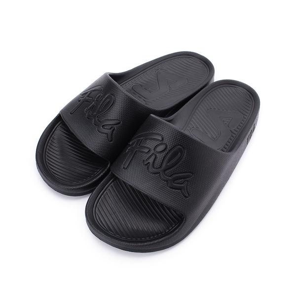 FILA 草書標誌運動拖鞋 全黑 4-S326U-000 男鞋