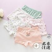兒童純棉寶寶內褲平角褲可樂梨短褲幼兒女孩底褲【君來佳選】