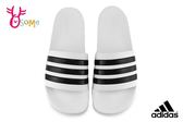 adidas ADILETTE CLOUDFOAM 成人男女款 情侶拖鞋 防水 經典造型 運動拖鞋 Q9351#白黑◆OSOME奧森鞋業