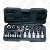 KS TOOLS 套筒組系列 - 911.4307 1/4吋 + 1/2吋 TX 套筒組 21件