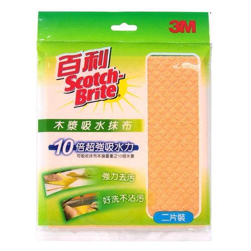 【奇奇文具】3M 木漿棉吸水抹布兩片包