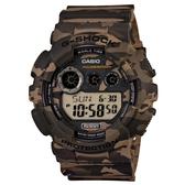 【CASIO】 G-SHOCK 軍事戰鬥玩酷迷彩造型概念錶-棕(GD-120CM-5)