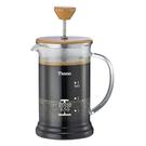 金時代書香咖啡   TIAMO 多功能1402木蓋濾壓壺4杯份 650cc  HA2121