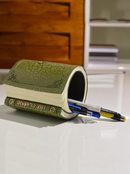 筆筒 可愛歐式復古筆筒