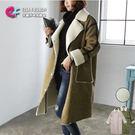 羊毛外套 柔美氛圍保暖雙口袋羊羔毛大衣 ...