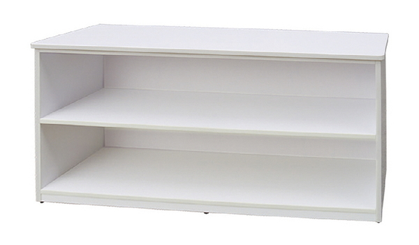 【IS空間美學】白色2格櫃(有背板)