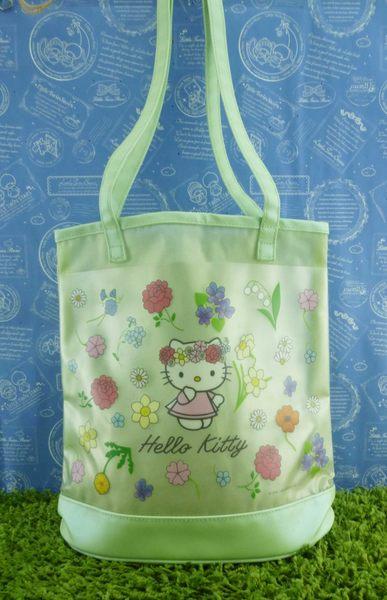 【震撼精品百貨】Hello Kitty 凱蒂貓~透明防水手提袋~綠花圈【共1款】