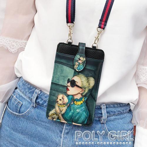 卡通可愛拉錬手機包女單肩斜背包韓版潮掛脖手機袋零錢包迷你小包 夏季新品