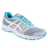 ASICS  亞瑟士 女慢跑鞋  PATRIOT 9 (藍x灰)緩衝、透氣 入門款 T873N-9601【 胖媛的店 】