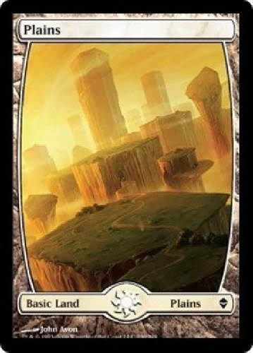 【MEIGO美購】 Zendikar Full Art Plains #230 John Avon Land Near Mint NM Free Shipping Textless 遊戲卡