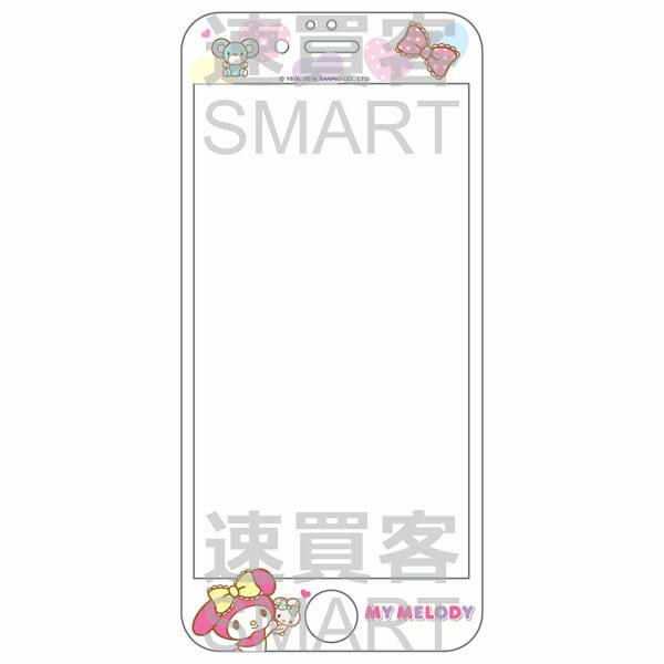 三麗鷗正版授權 家族系列 3D曲面滿版 iPhone6 Plus(5.5) 浮雕玻璃螢幕貼