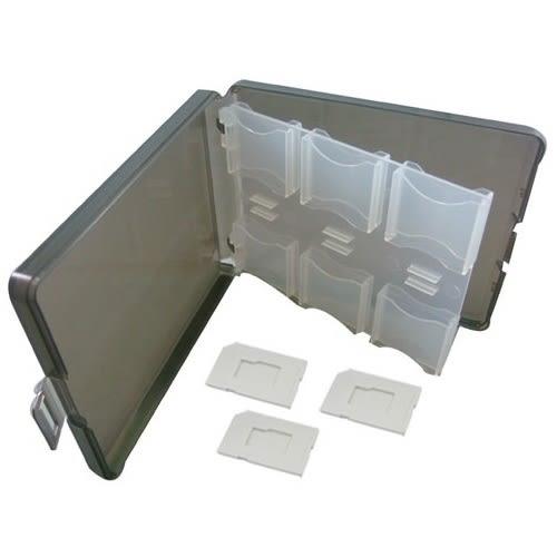12片裝 SD 記憶卡 收納盒 ( 內附 T-Flash / microSD 專屬卡槽 x3 )