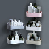 ✭慢思行✭【N222】幾何置物架 強力黏膠 壁掛  免打孔 浴室 長方置物架 簡約 北歐