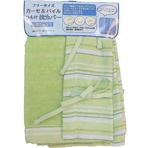 日本居家用品◇繫帶枕頭巾◇《粉紅條紋》
