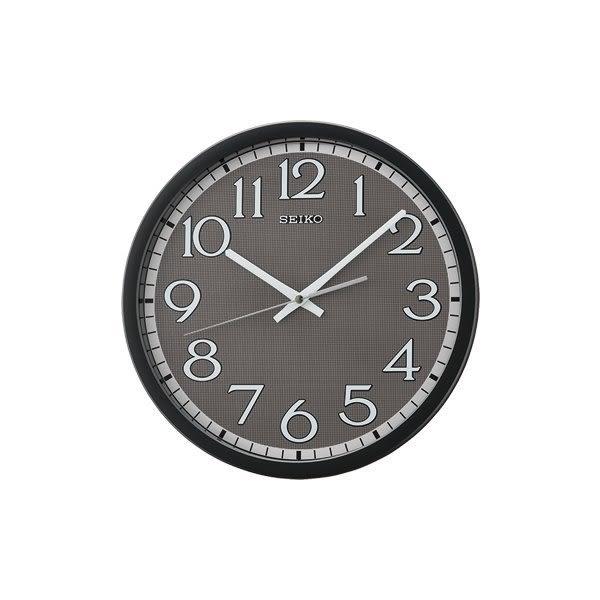 【時間光廊】SEIKO 日本 精工掛鐘 鋁製面盤 滑動式秒針 靜音 全新原廠公司貨 QXA711K 灰黑