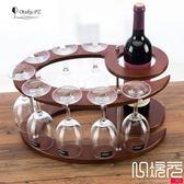 原木木制酒架紅酒架歐式葡萄實木酒架酒杯架倒掛酒柜擺件一次元
