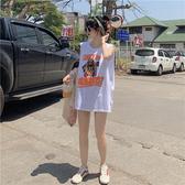 背心女外穿夏季寬鬆球衣bf籃球服韓版學生無袖中長款t恤ins潮上衣 【ifashion·全店免運】