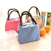 大號日本防水手提飯盒袋子小學生保溫便當包帶飯裝午餐拎包棉麻包