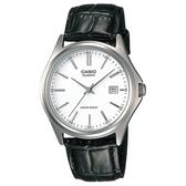 【CASIO】 精緻羅馬時尚皮質腕錶-羅馬白面(MTP-1183E-7A)