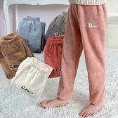 兒童褲子 仙女暖暖褲中小童睡褲外穿秋冬休閒長褲加厚加絨珊瑚絨家居褲 3C數位百貨