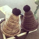 針織毛線帽-韓版潮流加厚線條混色女毛帽7色73ie33[時尚巴黎]