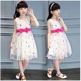 女童夏裝洋裝2019新款童裝小女孩公主裙兒童夏季洋氣裙子韓版潮 滿天星