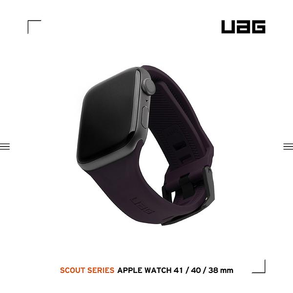 UAG Apple Watch 38/40/41mm 潮流矽膠錶帶-紫