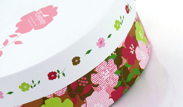 16CM白色花園 附棉紙底板 6吋 乳酪盒 起司蛋糕盒 外帶盒 禮盒 包裝盒 派盒C007