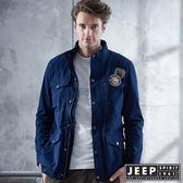 【JEEP】軍事風格夢想徽章外套 (海軍藍)