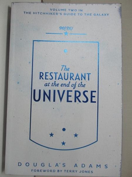 【書寶二手書T6/原文小說_INT】The Restaurant at the End of the Universe_Douglas Adams