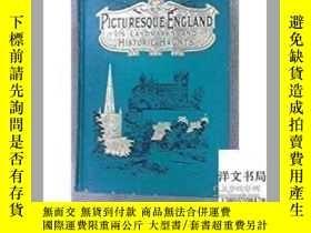 二手書博民逛書店【罕見】1891年出版; Picturesque EnglandY171274 出版1891