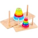 【快樂購】益智早教積木拼圖 漢諾塔十層 兒童益智力玩具