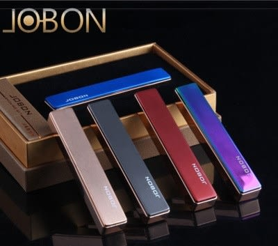 JOBON原裝正品 USB打火機 充電式打火機 電子點煙器 禮品生日禮物【DE083】