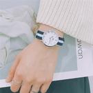 流行女錶 ins手錶女學生韓版簡約潮流ulzzang學院風復古森女系帆布錶帶防水 店慶降價