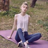 全館83折運動罩衫女寬鬆透氣網紗速干T恤顯瘦跑步訓練背心瑜伽上衣健身服
