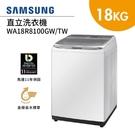 【結帳再折+分期0利率】SAMSUNG 三星 18公斤 直立洗衣機 WA18R8100GW/TW 馬達11保固 公司貨