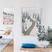 DIY數字油彩畫填色簡約風景裝飾畫背景墻掛壁畫禮物【聚寶屋】